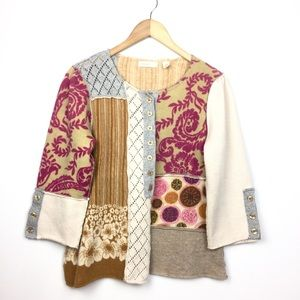 Anthropologie Sleeping on Snow Patchwork Cardigan